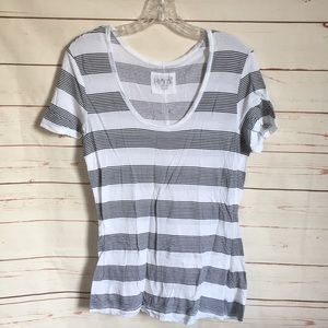 Grey and White Stripe Tee